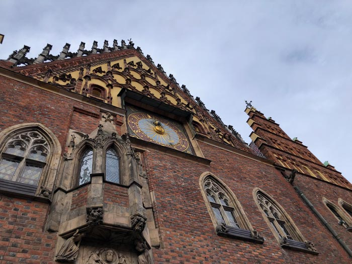 Rathaus von Wroclaw in der Nahansicht