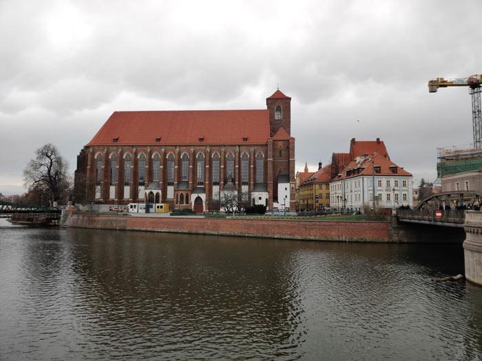 Sandkirche auf der Sandinsel in Wroclaw