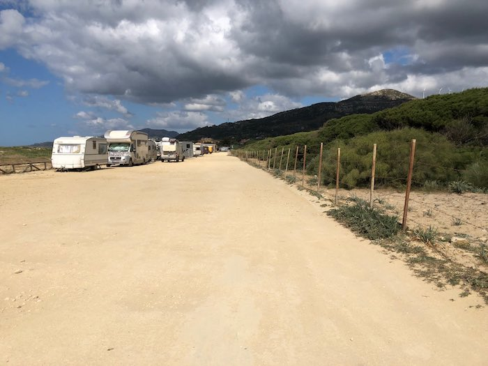 Camping Busse am Strand in Tarifa