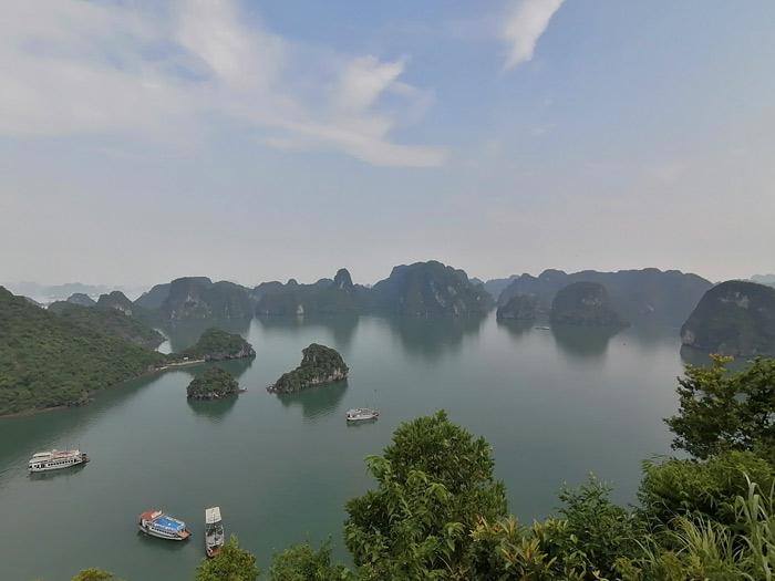 Ha Long Bucht Panorama Blick