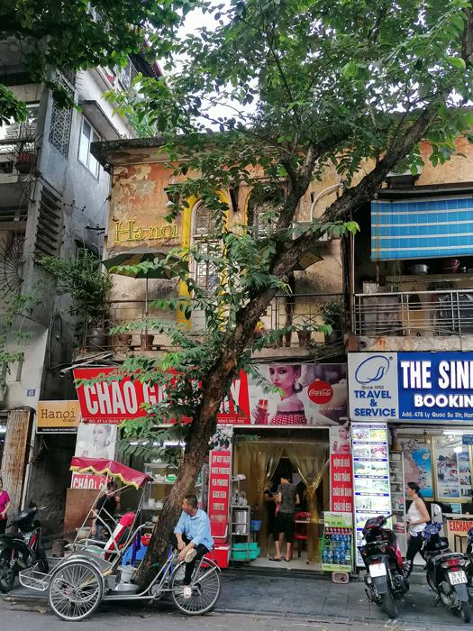 Typisches Stadtbild in Hanoi