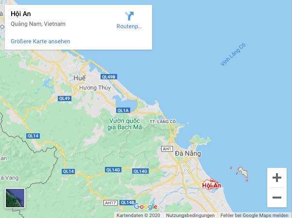 Hoi An auf Google Maps