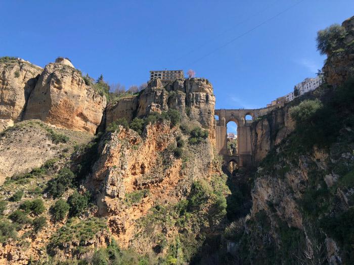 Blick auf die Puente Nuevo in Ronda