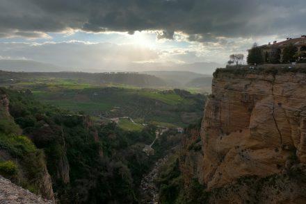 Ronda Andalusien Aussicht von Puente Nuevo
