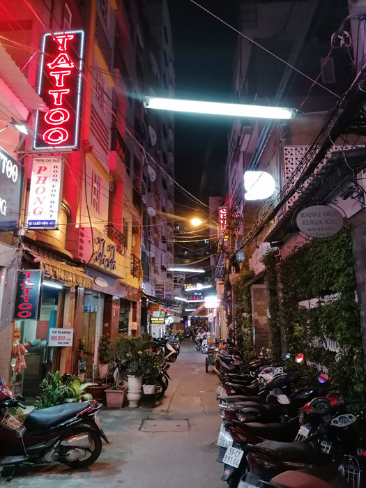 Seitengasse in Ho-Chi-Minh-Stadt
