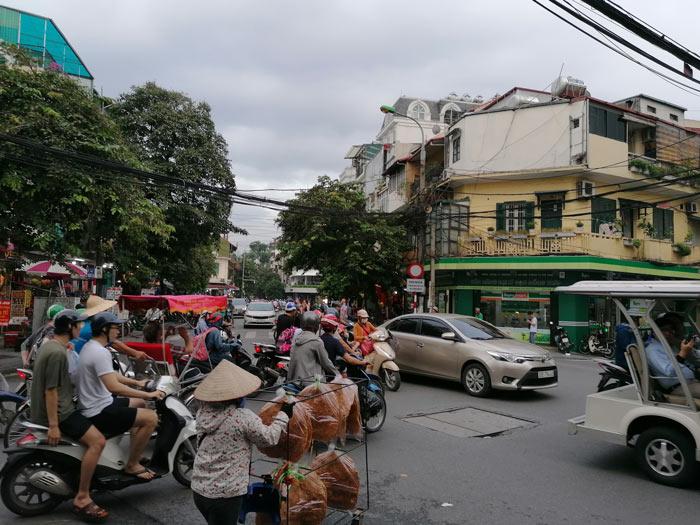 Verkehrschaos Hanoi