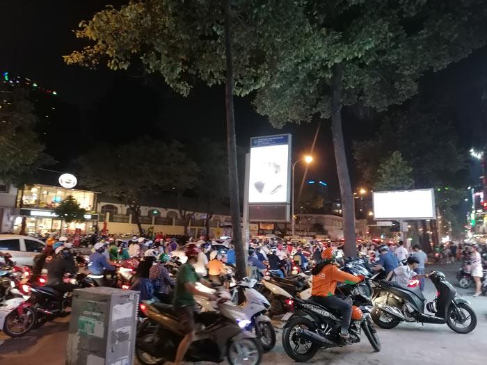 Verkehrschaos in Vietnam