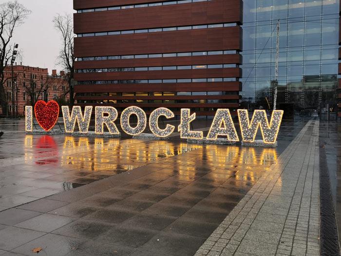 Wroclaw Schriftzug Herz