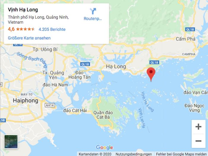 Karte Google Maps Halong