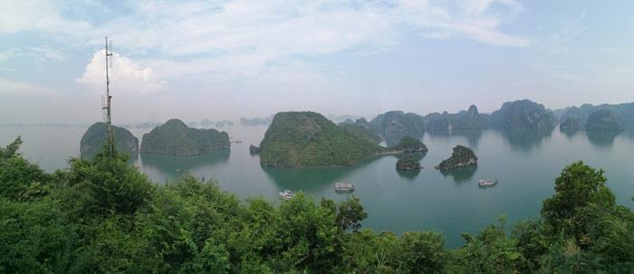 Aussicht Halong Bucht Dao Titop