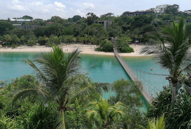Sentosa Blick auf Palawan Beach