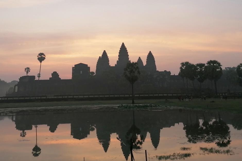 Angkor Wat zum Sonnenaufgang