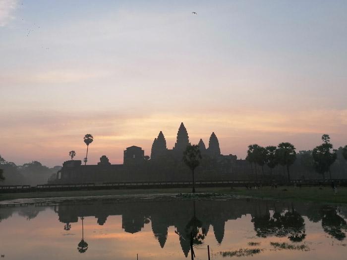Sonnenaufgang vor Angkor Wat