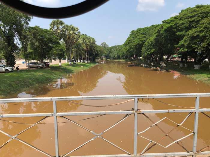 Fluss bei Siem Reap