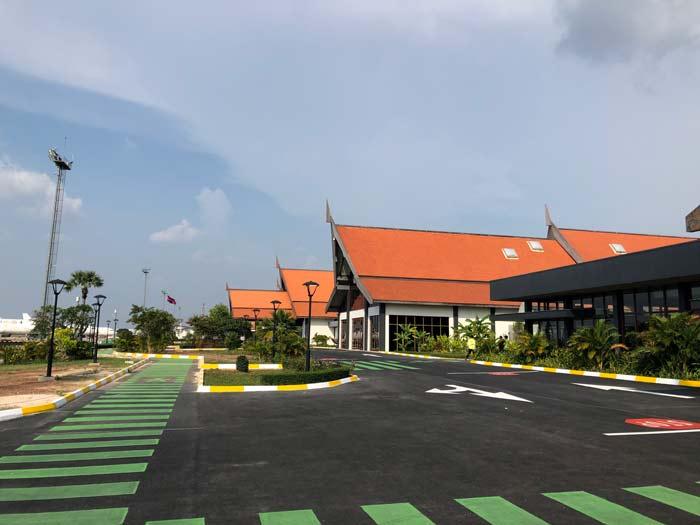Moderner Flughafen in Siem Reap