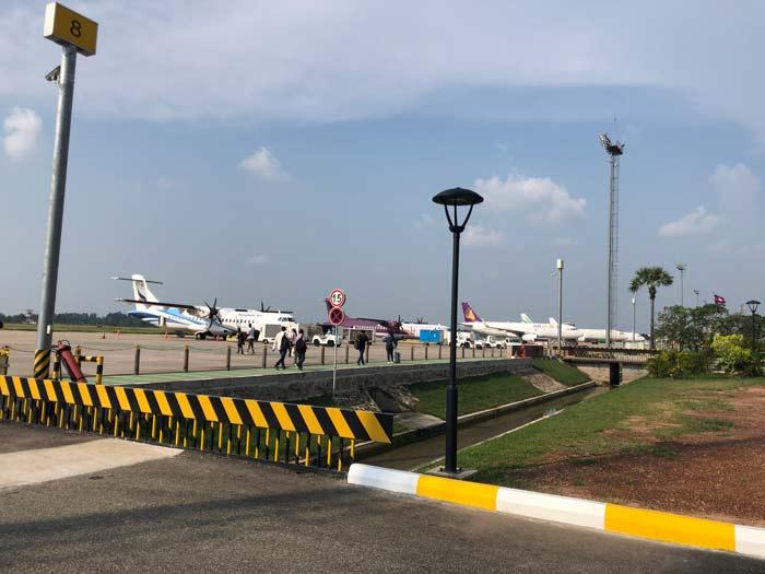 Rollfeld Flughafen in Kambodscha