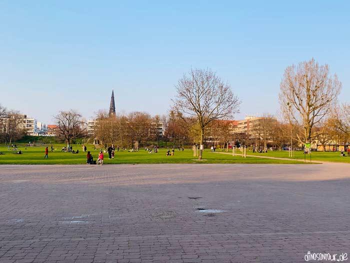 Alaunpark in der Neustadt Dresden