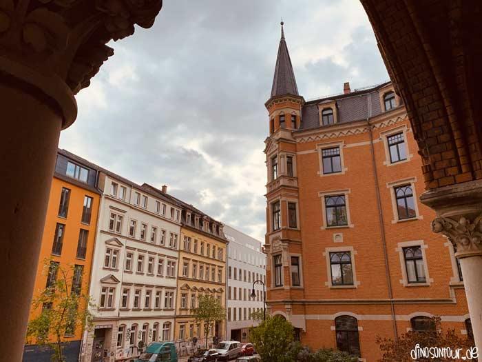 Blick von St. Pauli Ruine in Richtung Gründerzeithäuser