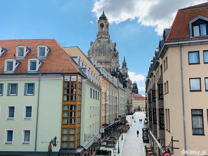 Blick Brühlsche Terrasse in Richtung Frauenkirche
