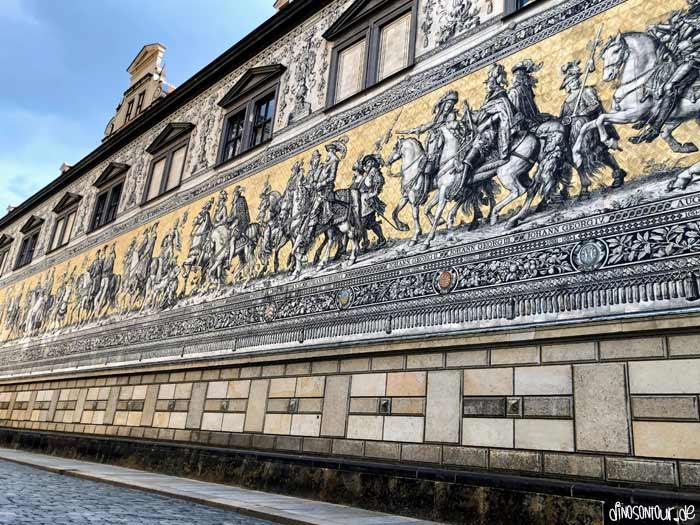 Fürstenzug mit Porzellanwandbild