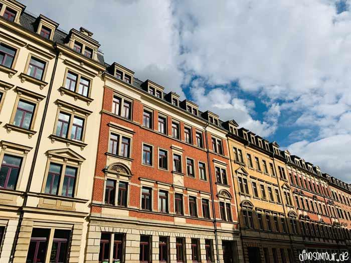 Gründerzeithäuser im Hechtviertel bei Sonnenschein