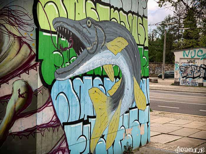 Hecht Graffiti am Bischofsplatz