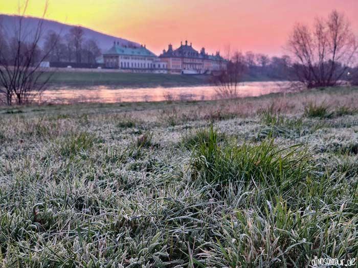 Schloss Pillnitz zum Sonnenaufgang