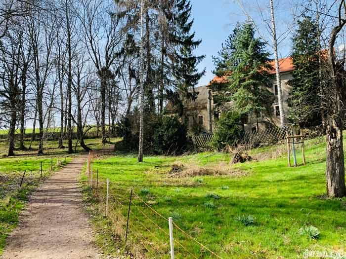 Blick auf Schulzenmühle im Zschonergrund
