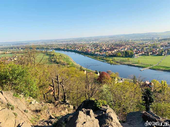 Agneshöhe in Wachwitz mit Aussicht auf Laubegast