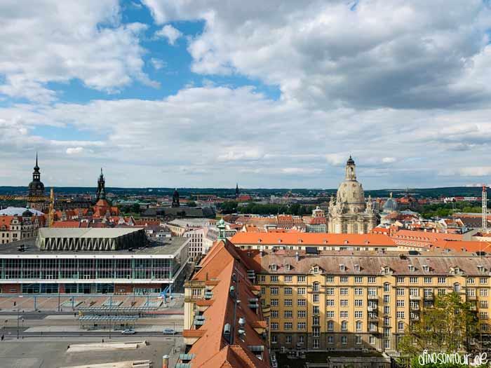 Ausblick Kreuzkirche auf Altmarkt und Frauenkirche