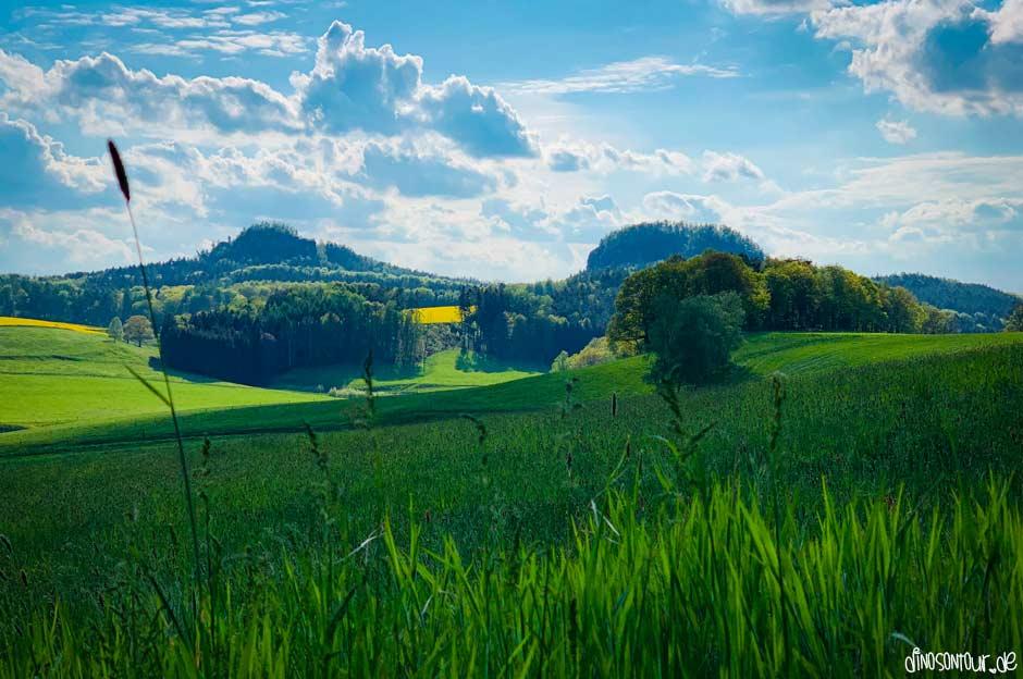 Panoramaausblick auf die Bärensteine in der Sächsischen Schweiz