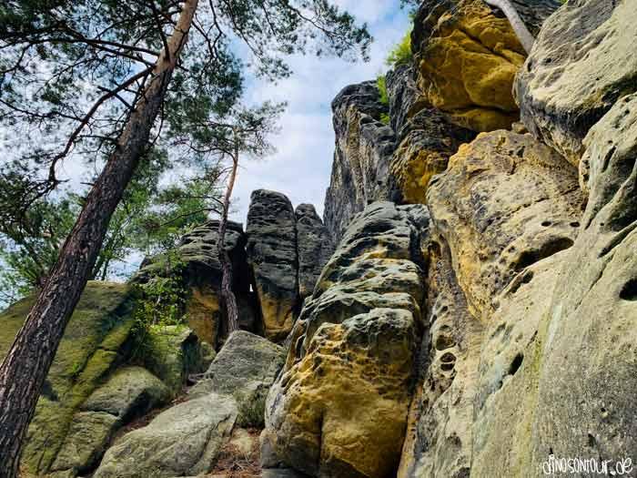 Felswand am kleinen Bärenstein