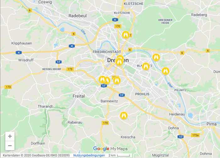 Karte Aussichtspunkte Dresden