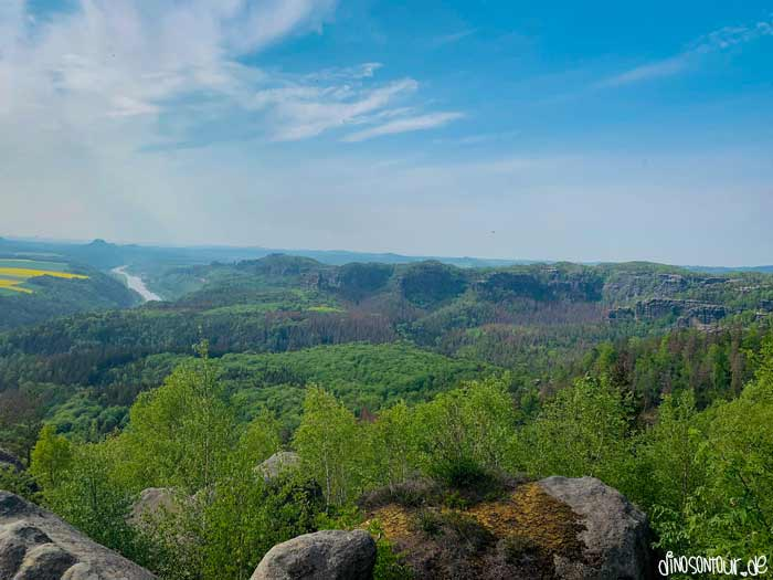 Kipphornaussicht Richtung Sächsische Schweiz