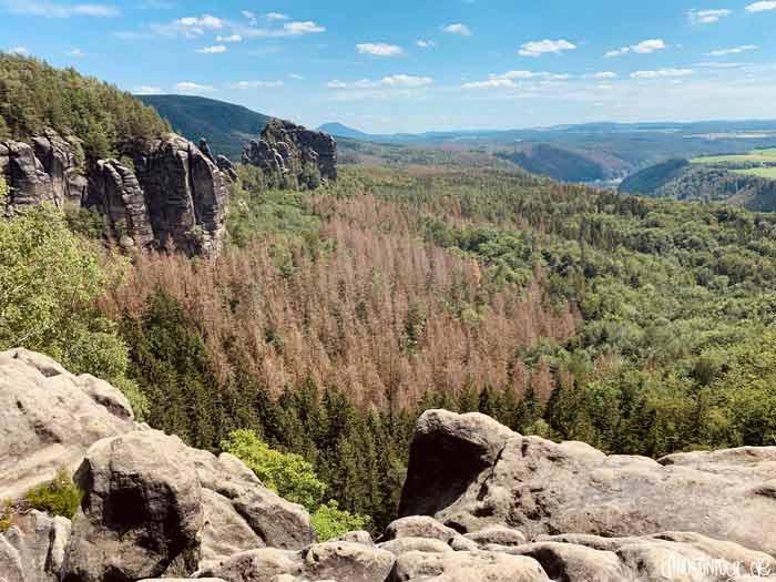 Aussicht Panorama Breite Kluft