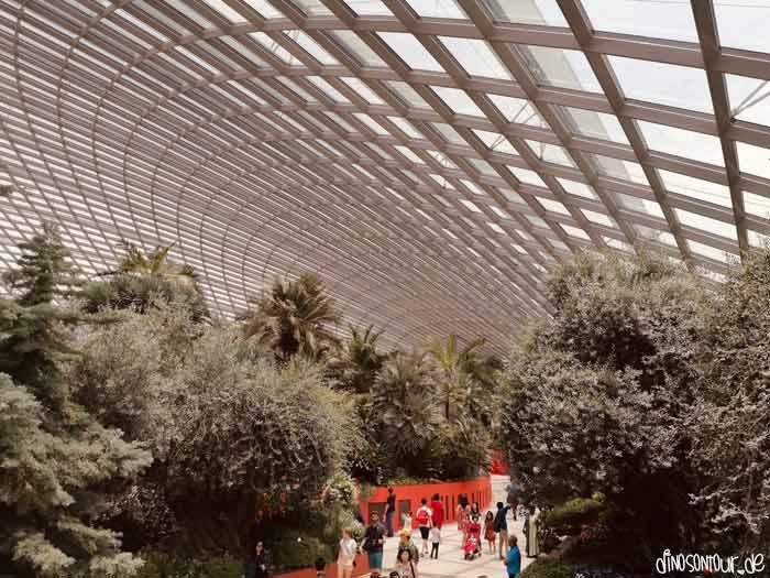 Flower Dome Spektakuläre Fassade