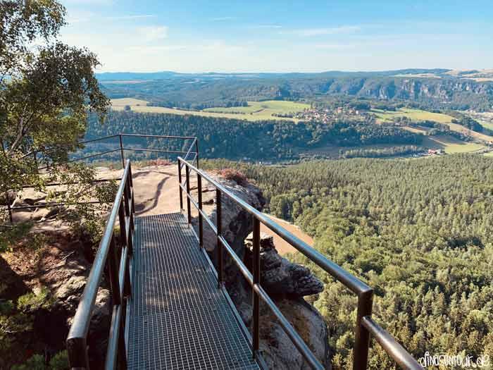 Metallgittertreppe Aussicht Lilienstein