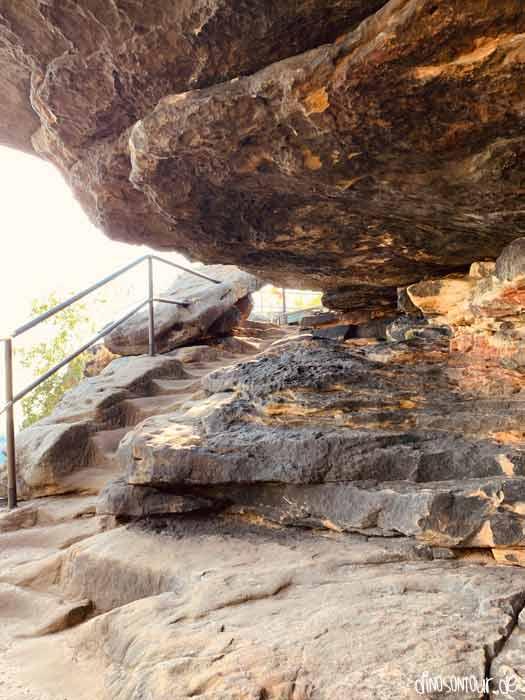 Fels Aufstieg Westseite