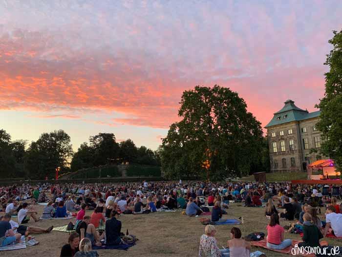Palais Sommer in Dresden Sonnenuntergang