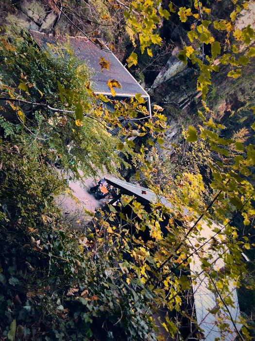 Amselfallbaude im Herbst