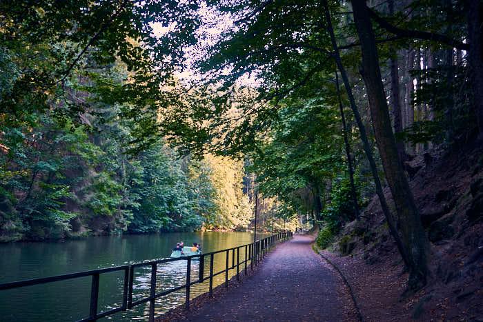 Amselsee Weg am Ufer