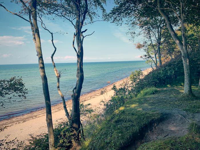 Aussicht Steilküste auf die Ostsee