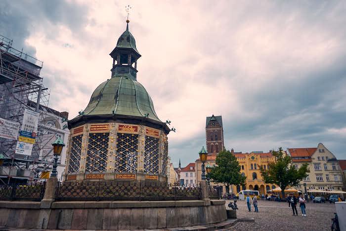 Wasserspiele am Historischen Marktplatz Wismar