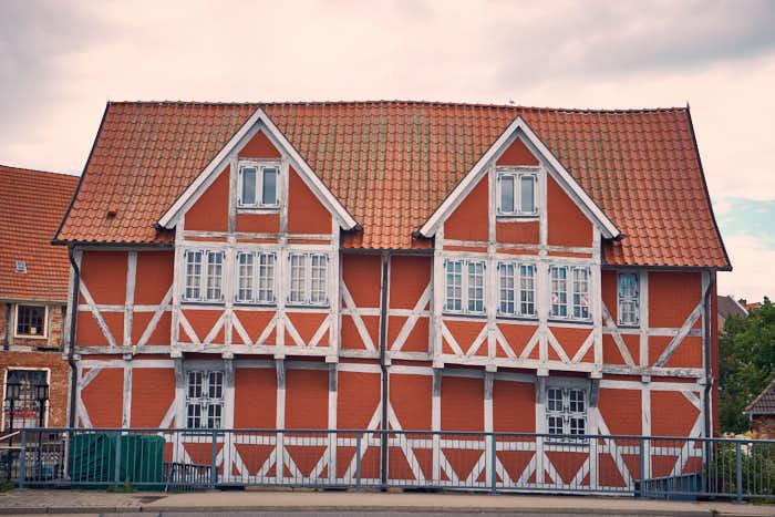 Wismar schräges Haus an der Frischen Grube