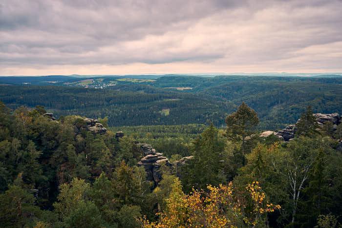 Pfaffenstein Aussichtsturm Panormaaussicht