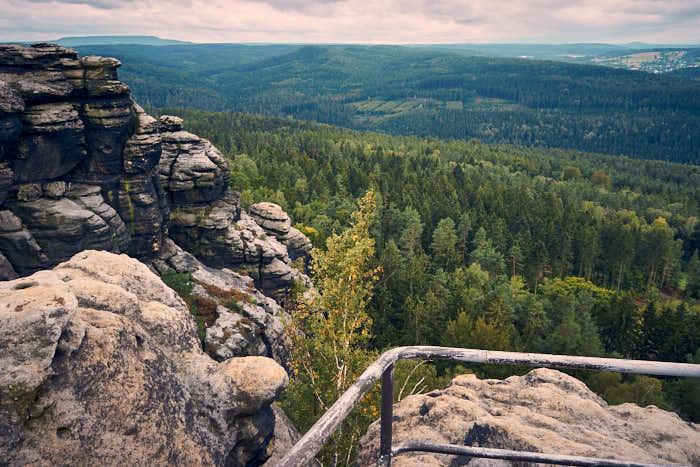 Aussichtspunkt am Opferkessel auf dem Pfaffenstein