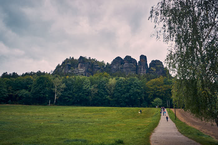 Wanderweg zum Pfaffenstein