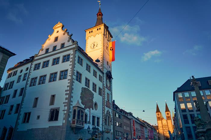 Rathaus Würzburg mit Grafeneckart