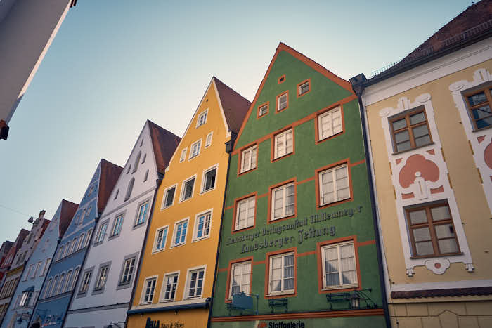 Bunte Häuser in Landsberg
