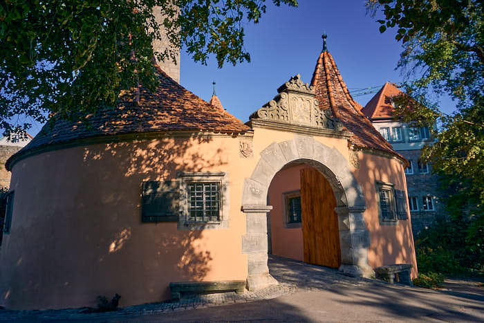 Burgtor am Burggarten in Rothenburg ob der Tauber